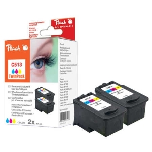 Peach  Doppelpack Druckköpfe color kompatibel zu Hersteller-ID: CL-513 Toner