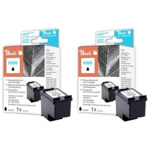 Peach  Doppelpack Druckköpfe schwarz kompatibel zu Hersteller-ID: No. 300, CC640EE Tinte