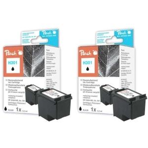 Peach  Doppelpack Druckköpfe schwarz kompatibel zu Hersteller-ID: No. 301, CH561EE Toner