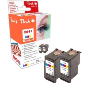 Peach  Doppelpack Druckköpfe color kompatibel zu Hersteller-ID: CL-541 Tinte