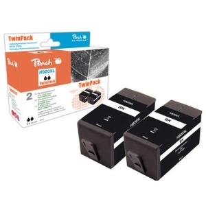 Peach  TwinPack Tintenpatrone schwarz HC kompatibel zu Hersteller-ID: No. 920XL, CD975AE Toner