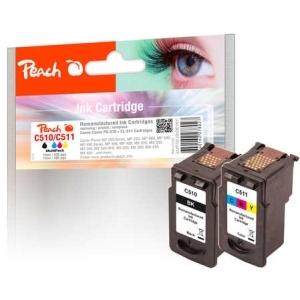 Peach  Spar Pack Druckköpfe kompatibel zu Hersteller-ID: PG-510, CL-511 Toner