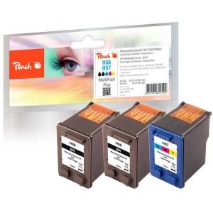 Peach  Spar Pack Plus Druckköpfe Tintenpatronen bk/c kompatibel zu Hersteller-ID: No. 56, C6656AE, No. 57, C6657AE Tinte