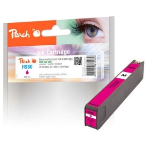 Peach  Tintenpatrone magenta kompatibel zu Hersteller-ID: No. 980, D8J08A Toner