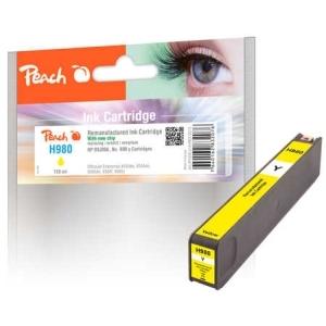 Peach  Tintenpatrone gelb kompatibel zu Hersteller-ID: No. 980, D8J09A Tinte