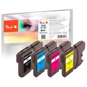 Peach  Spar Pack Tintenpatronen kompatibel zu Hersteller-ID: LC-1100, LC-980 Druckerpatronen