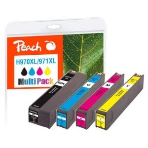 Peach  Spar Pack Tintenpatronen kompatibel zu Hersteller-ID: No. 970XL, No. 971XL Tinte