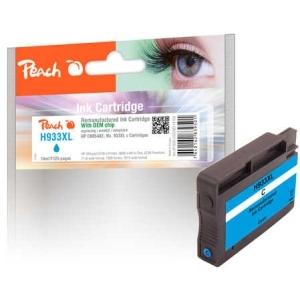 Peach  Tintenpatrone cyan HC kompatibel zu Hersteller-ID: No. 933XL, CN054AE Tinte