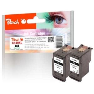 Peach  Doppelpack Tintenpatronen schwarz kompatibel zu Hersteller-ID: PG-540XL Druckerpatronen