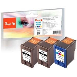 Peach  Spar Pack Plus Druckköpfe kompatibel zu Hersteller-ID: No. 21XL, C9351AE, No. 22XL, C9352AE Tinte