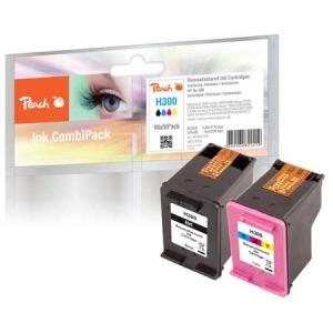 Peach  Spar Pack Druckköpfe kompatibel zu Hersteller-ID: No. 300, CC640EE, No. 300 color, CC643EE Tinte
