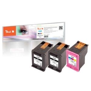 Peach  Spar Pack Plus Druckköpfe kompatibel zu Hersteller-ID: No. 300, CC640EE, No. 300 color, CC643EE Tinte