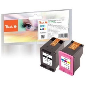 Peach  Spar Pack Druckköpfe kompatibel zu Hersteller-ID: No. 301 black, CH561EE, No. 301 color, CH562EE Tinte