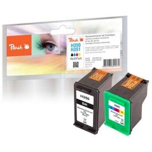 Peach  Spar Pack Druckköpfe kompatibel zu Hersteller-ID: No. 350, No. 351 Tinte
