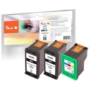 Peach  Spar Pack Plus Druckköpfe kompatibel zu Hersteller-ID: No. 351, HP No. 350 Tinte