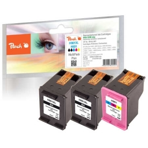 Peach  Spar Pack Plus Druckköpfe kompatibel zu Hersteller-ID: No. 901XL black, CC654AE, No. 901 color, CC656AE Tinte