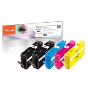 Peach  Spar Pack Plus Tintenpatronen kompatibel zu Hersteller-ID: No. 364 Tinte