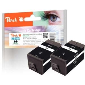Peach  Doppelpack Tintenpatrone schwarz kompatibel zu Hersteller-ID: No. 920XL, CD975AE Druckerpatronen