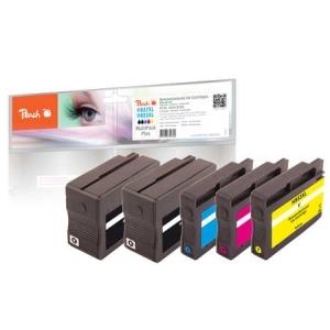Peach  Spar Pack Plus Tintenpatronen kompatibel zu Hersteller-ID: No. 932XL, No. 933XL Tinte