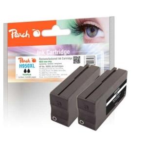 Peach  Doppelpack Tintenpatrone schwarz HC kompatibel zu Hersteller-ID: No. 950XL, CN045AE Druckerpatronen