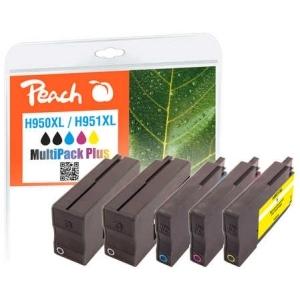 Peach  Spar Pack Plus Tintenpatronen kompatibel zu Hersteller-ID: No. 950XL, No. 951XL Tinte