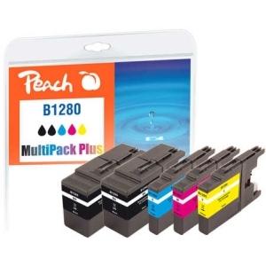 Peach  Spar Pack Plus Tintenpatronen, XL-Füllung, kompatibel zu Hersteller-ID: LC-1280 Tinte