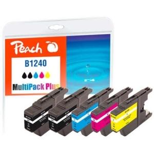 Peach  Spar Pack Plus Tintenpatronen kompatibel zu Hersteller-ID: LC-1240 Tinte