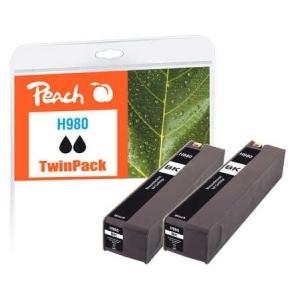 Peach  Doppelpack Tintenpatrone schwarz kompatibel zu Hersteller-ID: No. 980, D8J10A Druckerpatronen