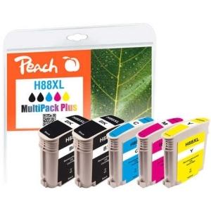 Peach  Spar Pack Plus Tintenpatronen kompatibel zu Hersteller-ID: No. 88XL Tinte