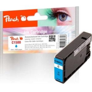 Peach  XL-Tintenpatrone cyan kompatibel zu Hersteller-ID: PGI-1500XLC Tinte