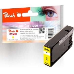 Peach  XL-Tintenpatrone gelb kompatibel zu Hersteller-ID: PGI-1500XLY Druckerpatronen