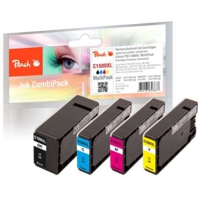 Peach  Spar Pack Tintenpatronen, kompatibel zu Hersteller-ID: PGI-1500XL Toner