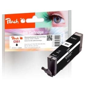 Peach  Tintenpatrone foto schwarz kompatibel zu Hersteller-ID: CLI-551bk Tinte