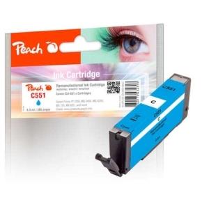 Peach  Tintenpatrone cyan kompatibel zu Hersteller-ID: CLI-551c Tinte