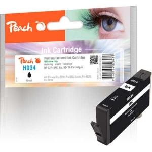 Peach  Tintenpatrone schwarz kompatibel zu Hersteller-ID: No. 934, C2P19AE Tinte