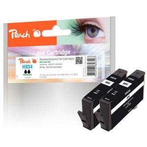 Peach  Doppelpack Tintenpatrone schwarz kompatibel zu Hersteller-ID: No. 934, C2P19AE Druckerpatronen
