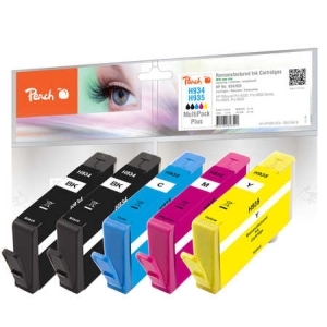 Peach  Spar Pack Plus Tintenpatronen kompatibel zu Hersteller-ID: No. 934, No. 935 Tinte