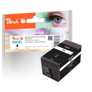 Peach  Tintenpatrone schwarz HC kompatibel zu Hersteller-ID: No. 934XL, C2P23AE Tinte