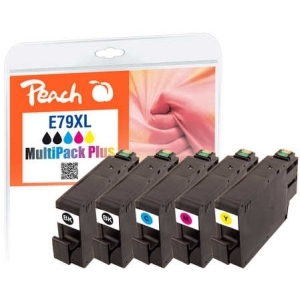Peach  Spar Pack Plus Tintenpatronen HY kompatibel zu Hersteller-ID: No. 79XL, T7905 Tinte