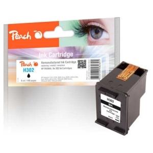 Peach  Druckkopf schwarz kompatibel zu Hersteller-ID: No. 302 bk, F6U66A Tinte