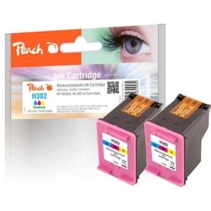 Peach  Doppelpack Druckköpfe color kompatibel zu Hersteller-ID: No. 302, F6U65A Tinte