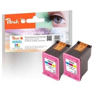 Peach  Doppelpack Druckköpfe color kompatibel zu Hersteller-ID: No. 302XL col, F6U67A Druckerpatronen