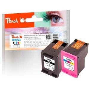 Peach  Spar Pack Druckköpfe kompatibel zu Hersteller-ID: No. 302XL, F6U68A, F6U67A Druckerpatronen