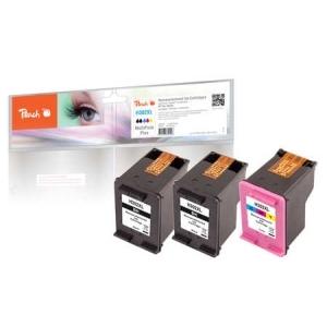 Peach  Spar Pack Plus Druckköpfe kompatibel zu Hersteller-ID: No. 302XL, F6U68A, F6U67A Toner