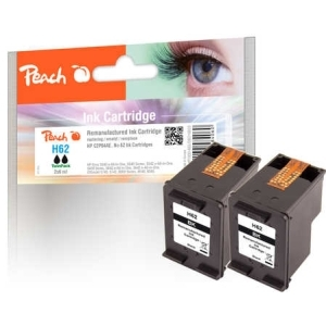 Peach  Doppelpack Druckköpfe schwarz kompatibel zu Hersteller-ID: No. 62, C2P04AE Druckerpatronen