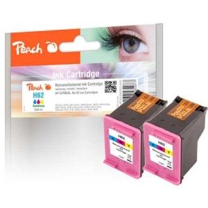 Peach  Doppelpack Druckköpfe color kompatibel zu Hersteller-ID: No. 62, C2P06AE Druckerpatronen