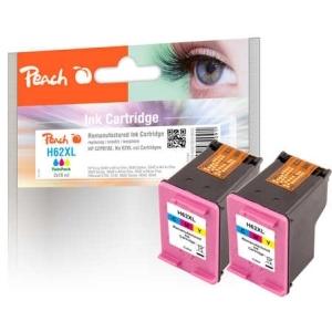 Peach  Doppelpack Druckköpfe color kompatibel zu Hersteller-ID: No. 62XL, C2P07AE Tinte