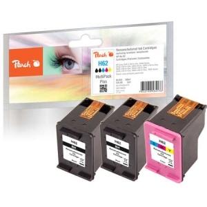 Peach  Spar Pack Plus Druckköpfe kompatibel zu Hersteller-ID: No. 62, C2P04AE, C2P06AE Toner