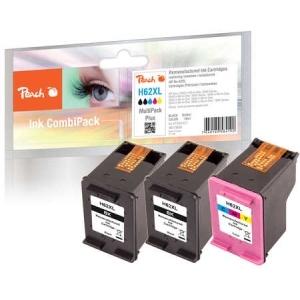 Peach  Spar Pack Plus Druckköpfe kompatibel zu Hersteller-ID: No. 62XL, C2P05AE, C2P07AE Toner