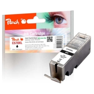 Peach  Tintenpatrone XL schwarz kompatibel zu Hersteller-ID: PGI-570XL bk Druckerpatronen